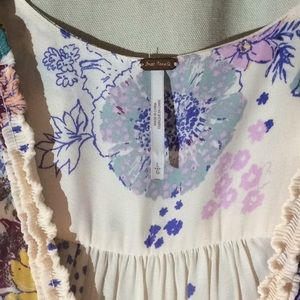 Free People Tops - Free people cream with pastel flowers top